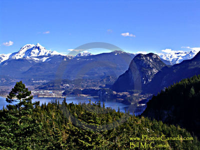 Squamish Harbour & Mt. Garibaldi (view from the south)